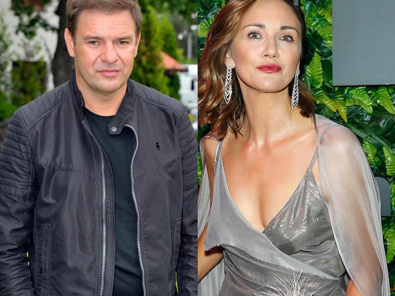 Ilona Ostrowska i Tomasz Karolak /Podlewski/Gałązka /AKPA