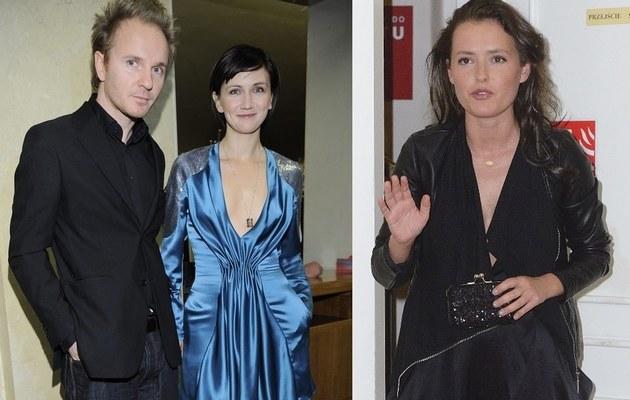 Ilona z Jackiem i Olga Frycz /- /MWMedia