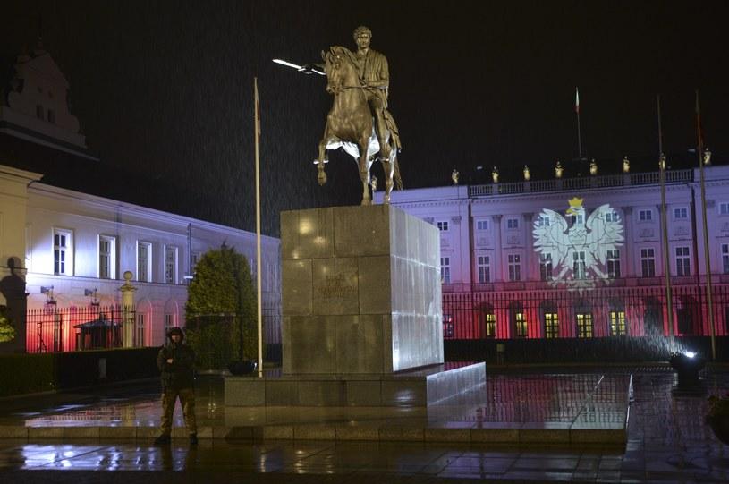 Iluminacja Pałacu Prezydenckiego z okazji święta Konstytucji 3 Maja /East News