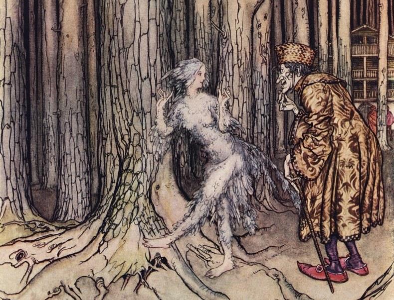 Ilustracja Arthura Rackhama  do jednej z baśni braci Grimm /East News