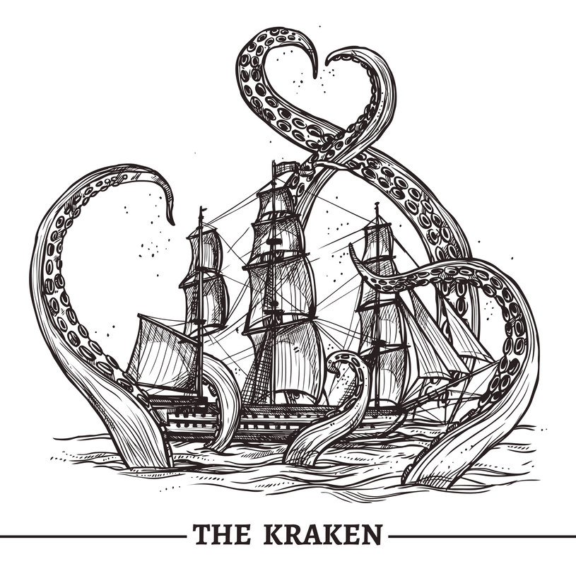 Ilustracja przedstawiająca atak mitycznego krakena /123RF/PICSEL