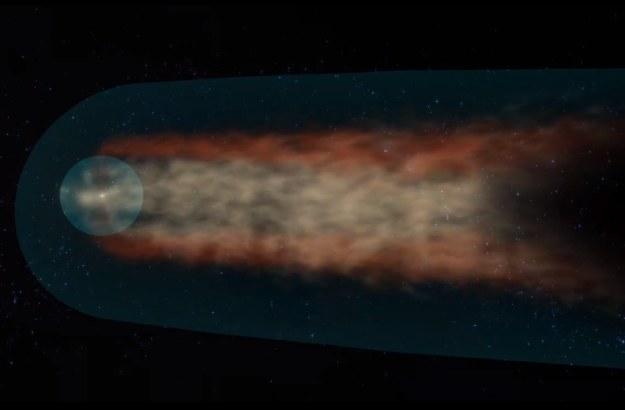 Ilustracja przedstawiająca ogon naszego układu /NASA