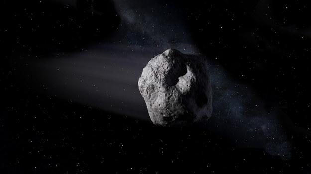 Ilustracja przygotowana przez NASA pokazująca asteroidę taką, jak SW 2020 / NASA/JPL-Caltech /Materiały prasowe