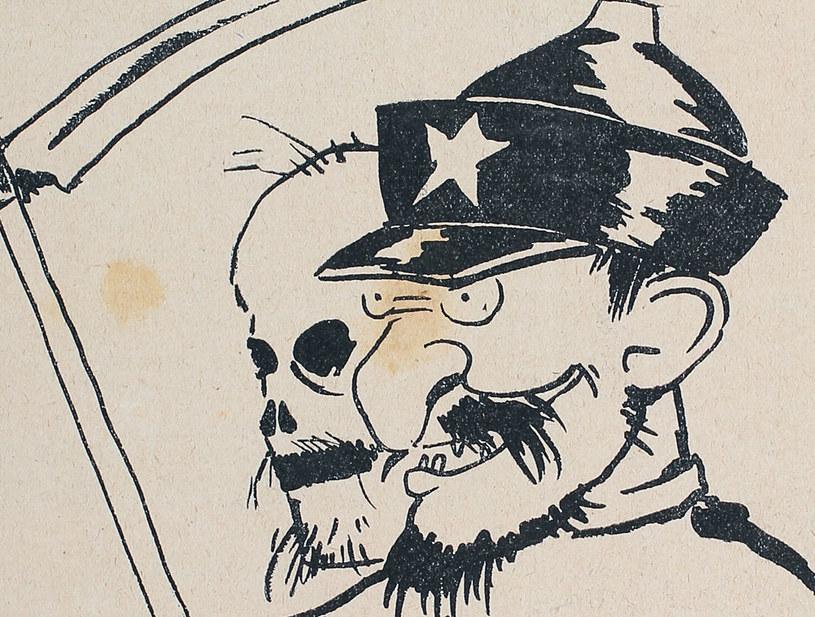 Ilustracja satyryczna z epoki: Polacy nie mieli wątpliwości co do prawdziwych zamiarów bolszewików /reprodukcja Piotr Mecik /Agencja FORUM