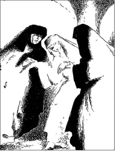 Ilustracja Tadeusza Gronowskiego do Zakonnicy Diderota, 1950 r. /Encyklopedia Internautica