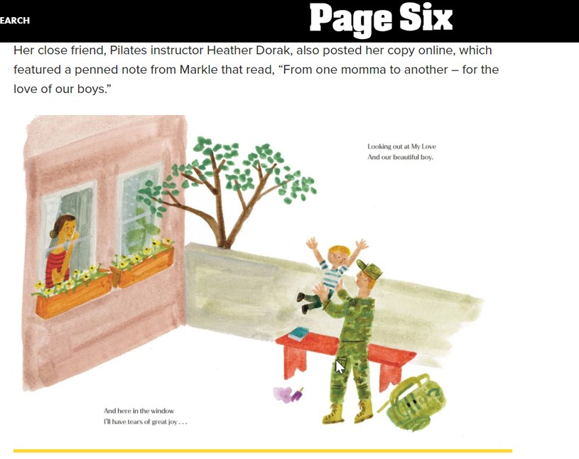 """Ilustracja z książki """"The bench"""", autorstwa księżnej Meghan /materiał zewnętrzny"""