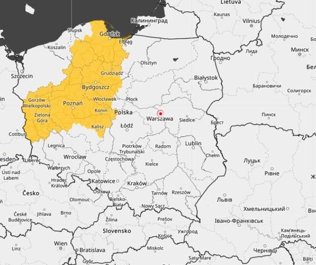 IMGW wydał ostrzeżenia przed burzami z gradem dla kilku regionów /IMGW /