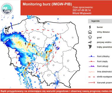 IMGW zapowiada dziś burze w całym kraju. Mapa burzowa. Gdzie jest burza?