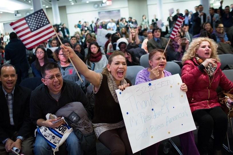 Imigranci reagują na przemówienie Baracka Obamy /AFP