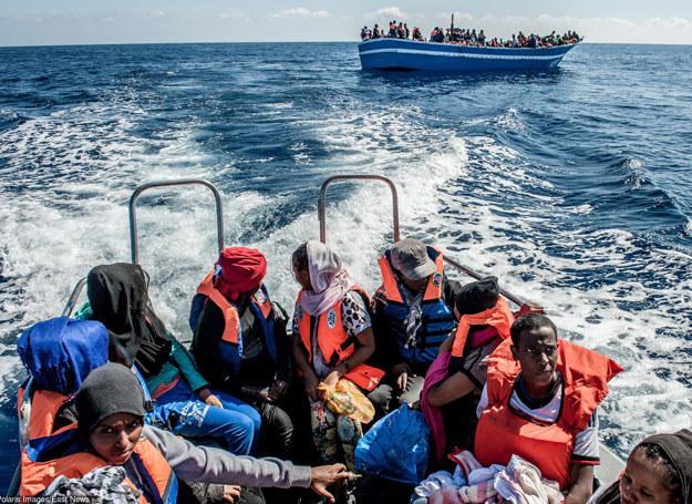 Imigranci uratowani przez włoską marynarkę wojenną/ 29.05.2015 /Polaris /East News