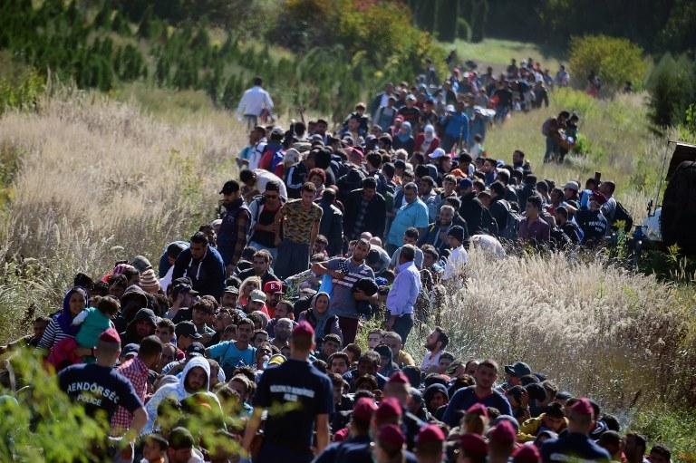 Imigranci /AFP