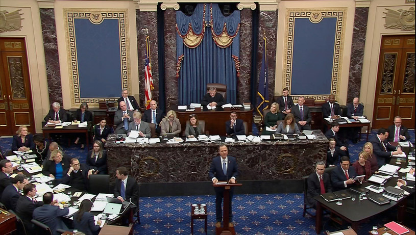 Impeachment Donalda Trumpa w Senacie /Handout /Agencja FORUM