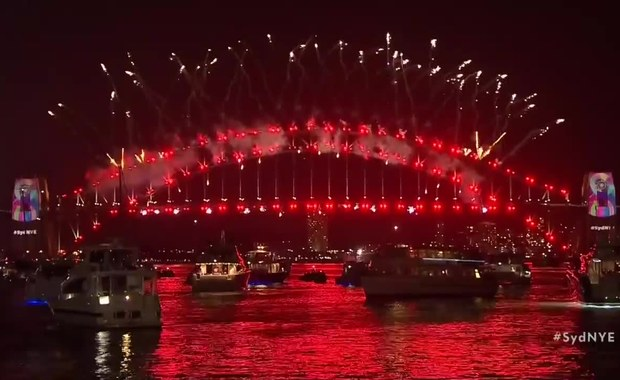 Imponujący pokaz fajerwerków w Sydney. Australia przywitała Nowy Rok