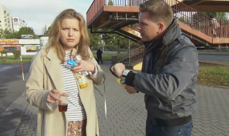 Imprezowiczka z Warszawy skradła Chajzerowi całe show /Filip Chajzer /YouTube