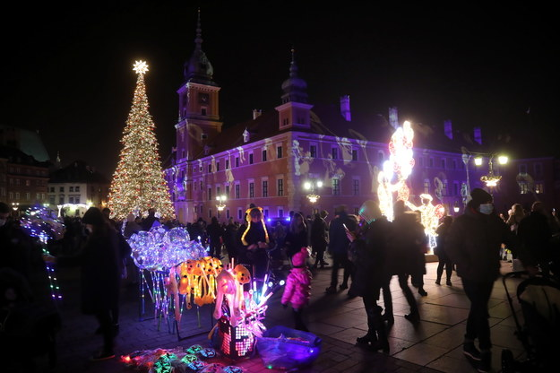 Inauguracja iluminacji świątecznej /Wojciech Olkuśnik /PAP