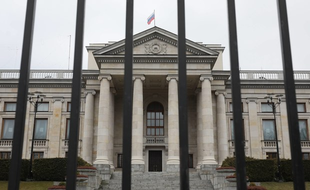 Incydent przed ambasadą Rosji w Warszawie. 36-latka zatrzymana