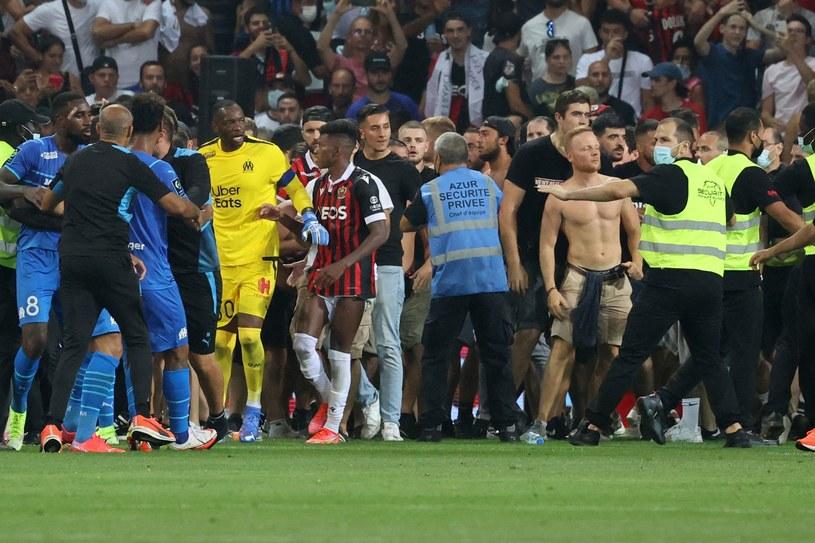Incydenty podczas meczu Nicea - Marsylia /AFP