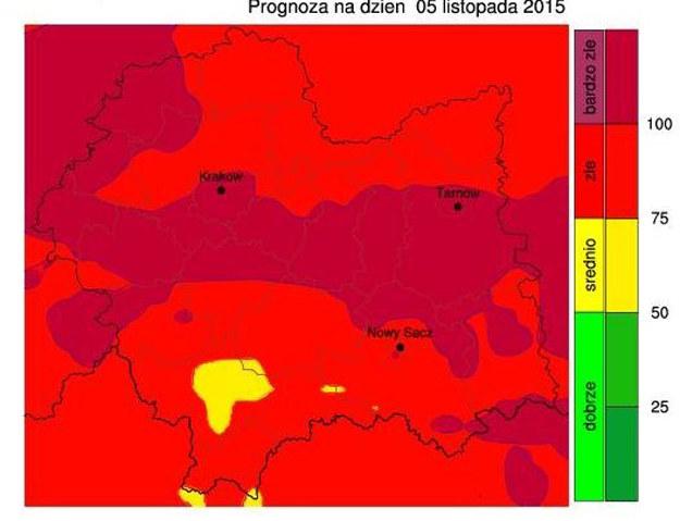 Indeks jakości powietrza /www.malopolska.pl /