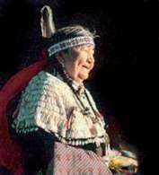 Indianka z rezerwatu w Dakocie /Encyklopedia Internautica