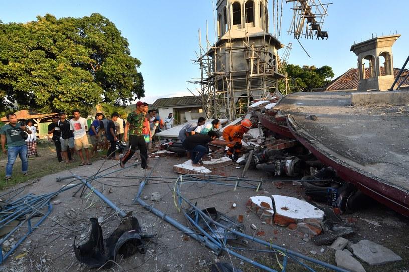 Indonezja po trzęsieniu ziemi /ADEK BERRY/AFP /AFP
