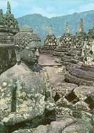 Indonezji sztuka, fragment stupy Borobudur, XIII-IX w., dolina Kedu /Encyklopedia Internautica