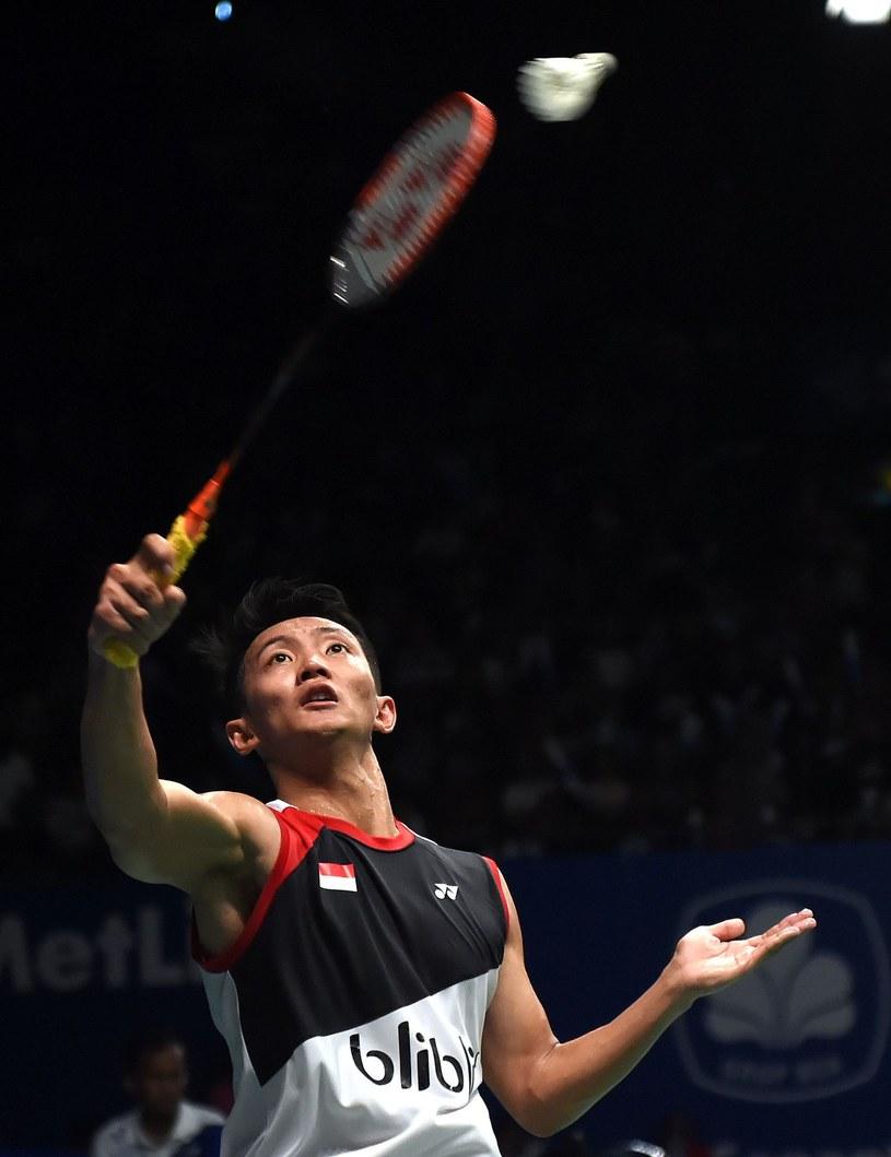 Indonezyjski badmintonista Maulana Mustofa /AFP