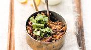 Indyjskie curry z czterema rodzajami fasoli
