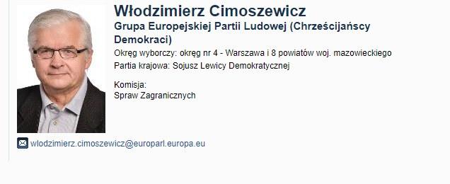 Informacja na stronie europarlamentu /