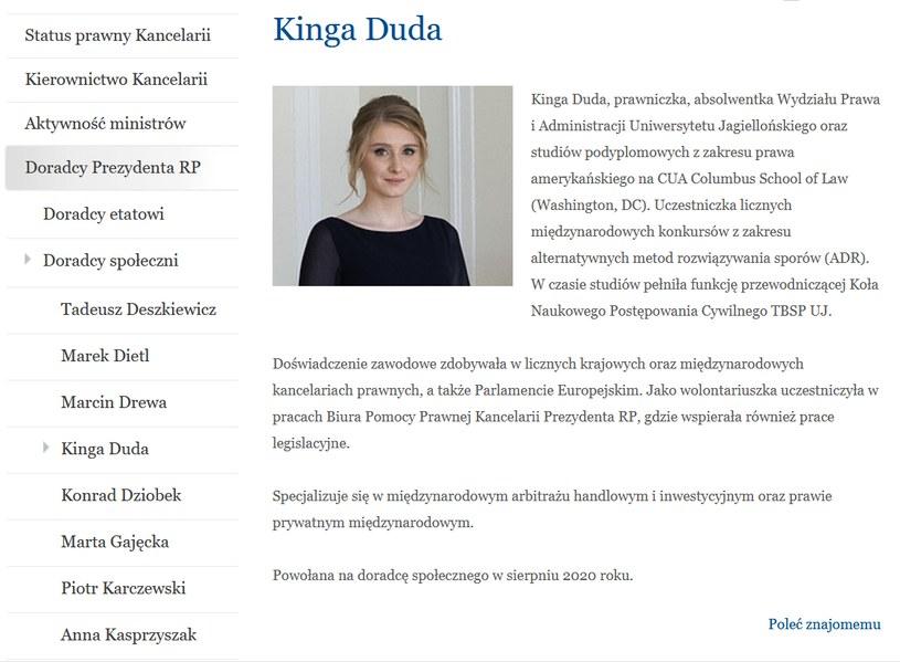 Informacja na stronie prezydent.pl, dostęp: 17.09.2020 /