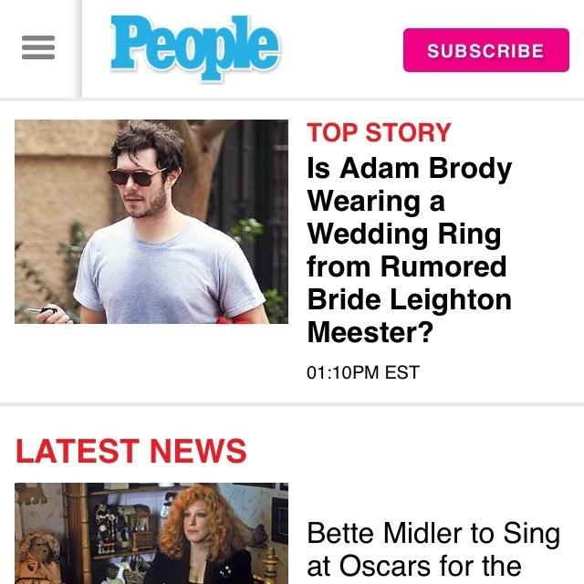 Informacja o ślubie Leighton Meester i Adama Brody'ego podana przez People.com /Instagram /materiały prasowe