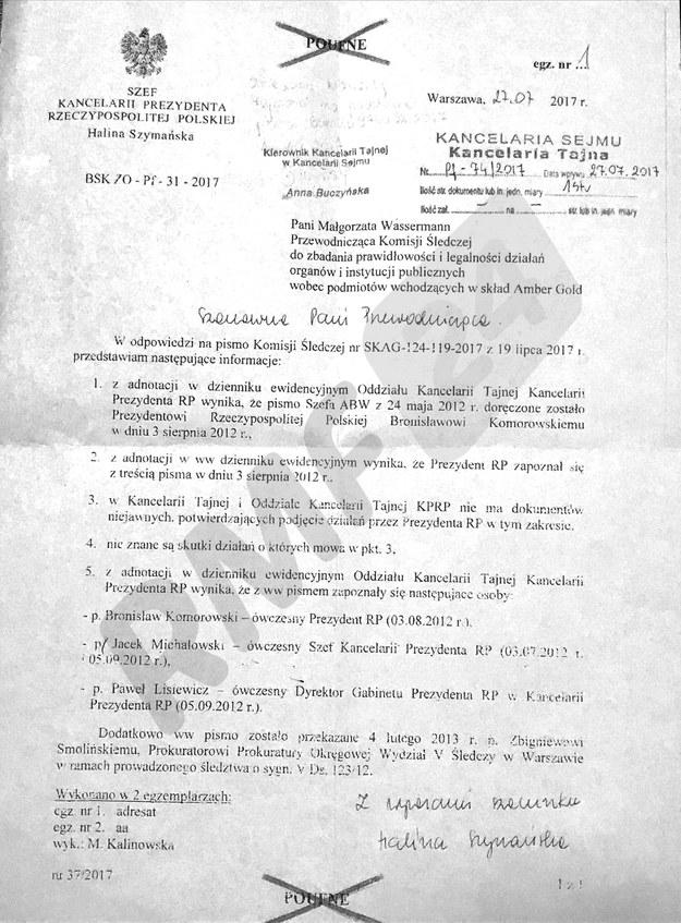 Informacja o tajnej notatce /Patryk Michalski /RMF FM