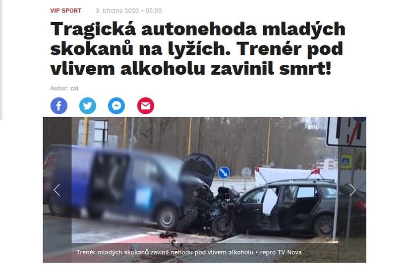 Informacja o tragedii wstrząsnęła czeskimi mediami /