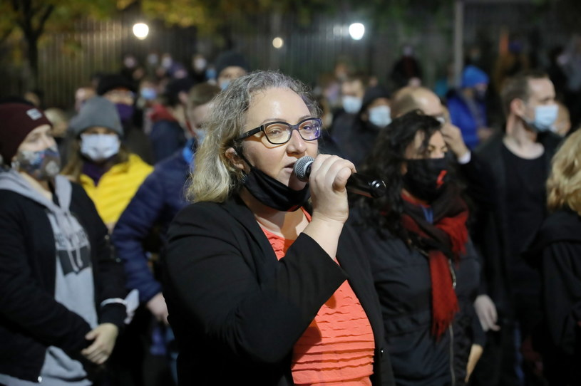 Inicjatorka Ogólnopolskiego Strajku Kobiet Marta Lempart / Leszek Szymański    /PAP