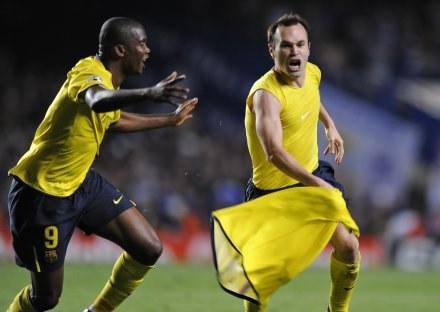 Iniesta zaprowadził Barcelonę do finału Ligi Mistrzów /AFP