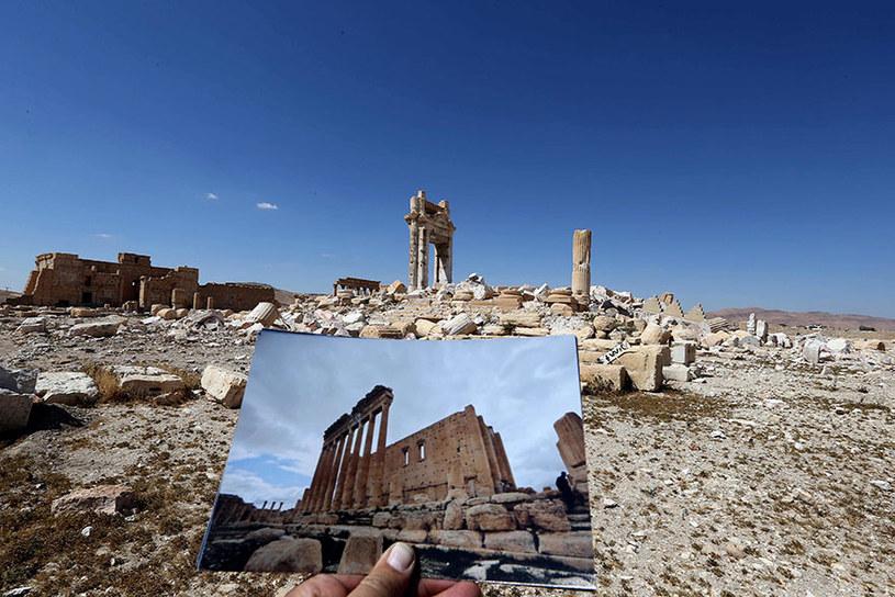 Inne ujęcie na pozostałości po świątyni Bela /JOSEPH EID / AFP  /AFP