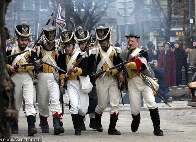 Inscenizacja szturmu na Arsenal w 173 rocznice wybuchu Powstania Listopadowego /Rucinski/REPORTER /East News