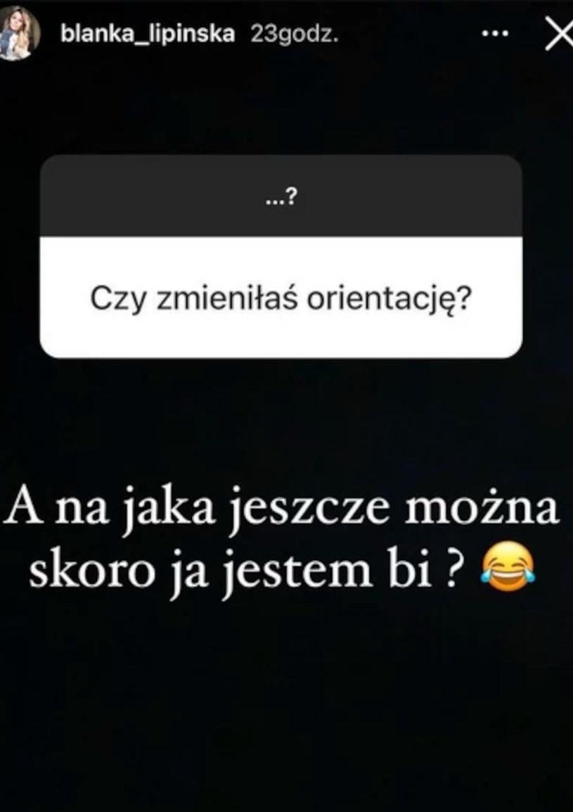 Instagram Blanki Lipińskiej, fot. https://www.instagram.com/blanka_lipinska/ /Instagram