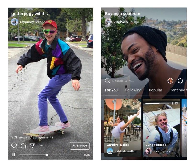 Instagram IGTV /materiały prasowe