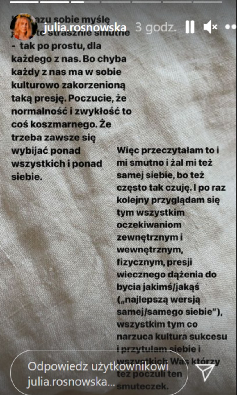Instagram  Julii Rosnowskiej, fot. https://www.instagram.com/zborowskazofia/ /Instagram