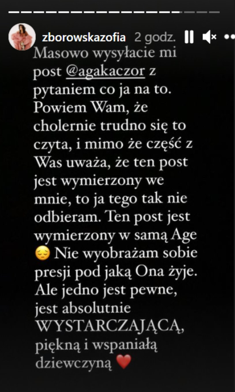 Instagram Zofii Zborowskiej, fot. https://www.instagram.com/zborowskazofia/ /Instagram