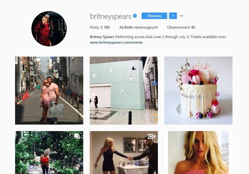 Instagramowy profil Britney Spears śledzi prawie 17 milionów użytkowników /Instagram /Internet