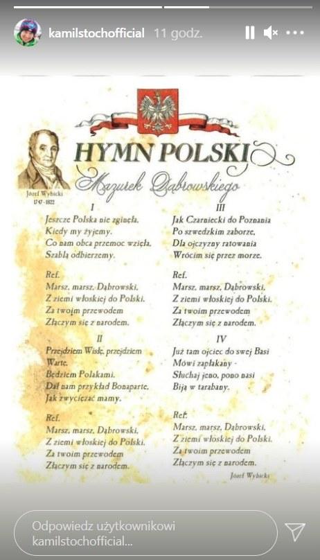 InstaStories Kamila Stocha /Kamil Stoch /materiały prasowe
