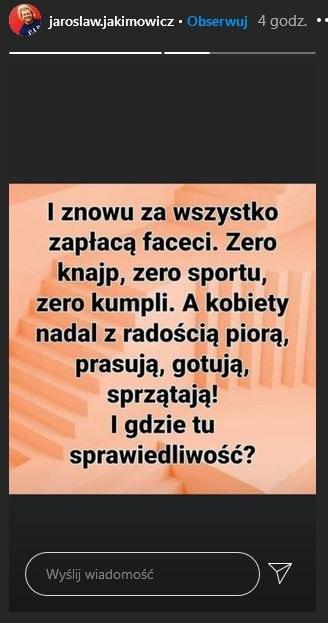 InstaStory Jarosław Jakimowicz /materiał zewnętrzny