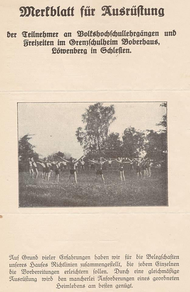 Instrukcja dla gości przybywających do Boberhaus z ok. 1930 r. /fot. ze zbiorów Lidii Sysak /Odkrywca
