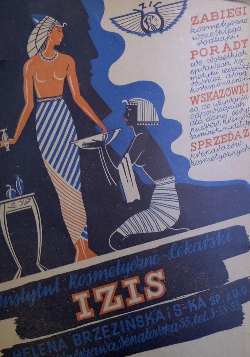 Instytut Kosmetyki Lekarskiej Izis nie przestał się reklamować nawet w czasie okupacji (Fot. Aleksandra Zaprutko-Janicka) /Ciekawostki Historyczne