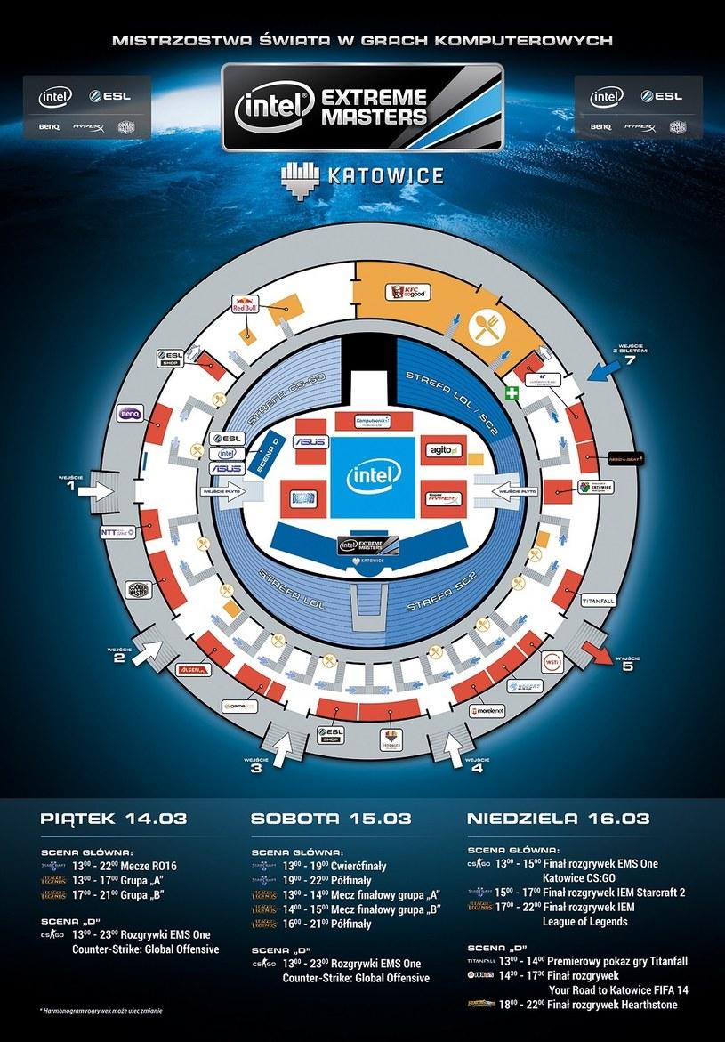 Intel Extreme Masters - plan imprezy w Spodku /materiały prasowe