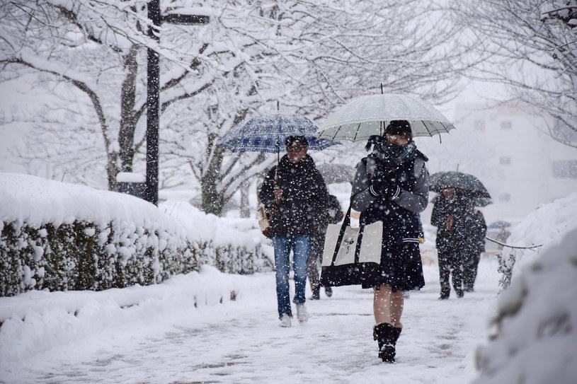 Intensywne opady śniegu i utrudnienia komunikacyjne w Japonii /STR / JIJI PRESS / AFP /AFP