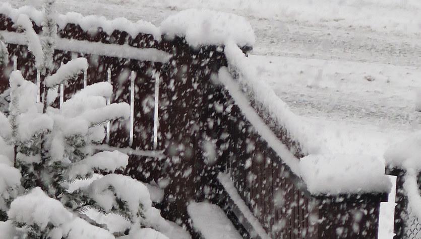 Intensywne opady śniegu w Zakopanem