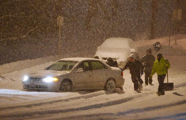 Intensywne śnieżyce na Podhalu (zdjęcie ilustracyjne) fot. Mandel Ngan /AFP