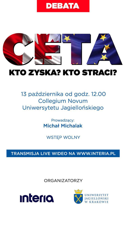 Interia i UJ zapraszają na debatę nt. CETA /INTERIA.PL